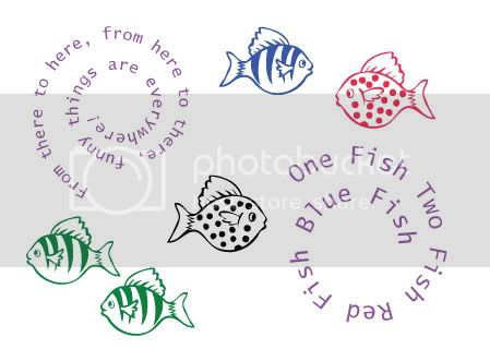 &quot;One Fish Two Fish Red Fish Blue Fish&quot; &lt;br&gt; Wall Decal Package