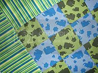 Elephant Quilt &lt;br&gt;Crib size &lt;br&gt; $HC Auction