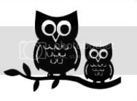 Owls on a Branch Vinyl Decal