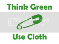 Think Green Use Cloth Vinyl Decal