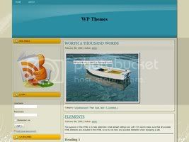 Wordpress Themes Premium blue v2